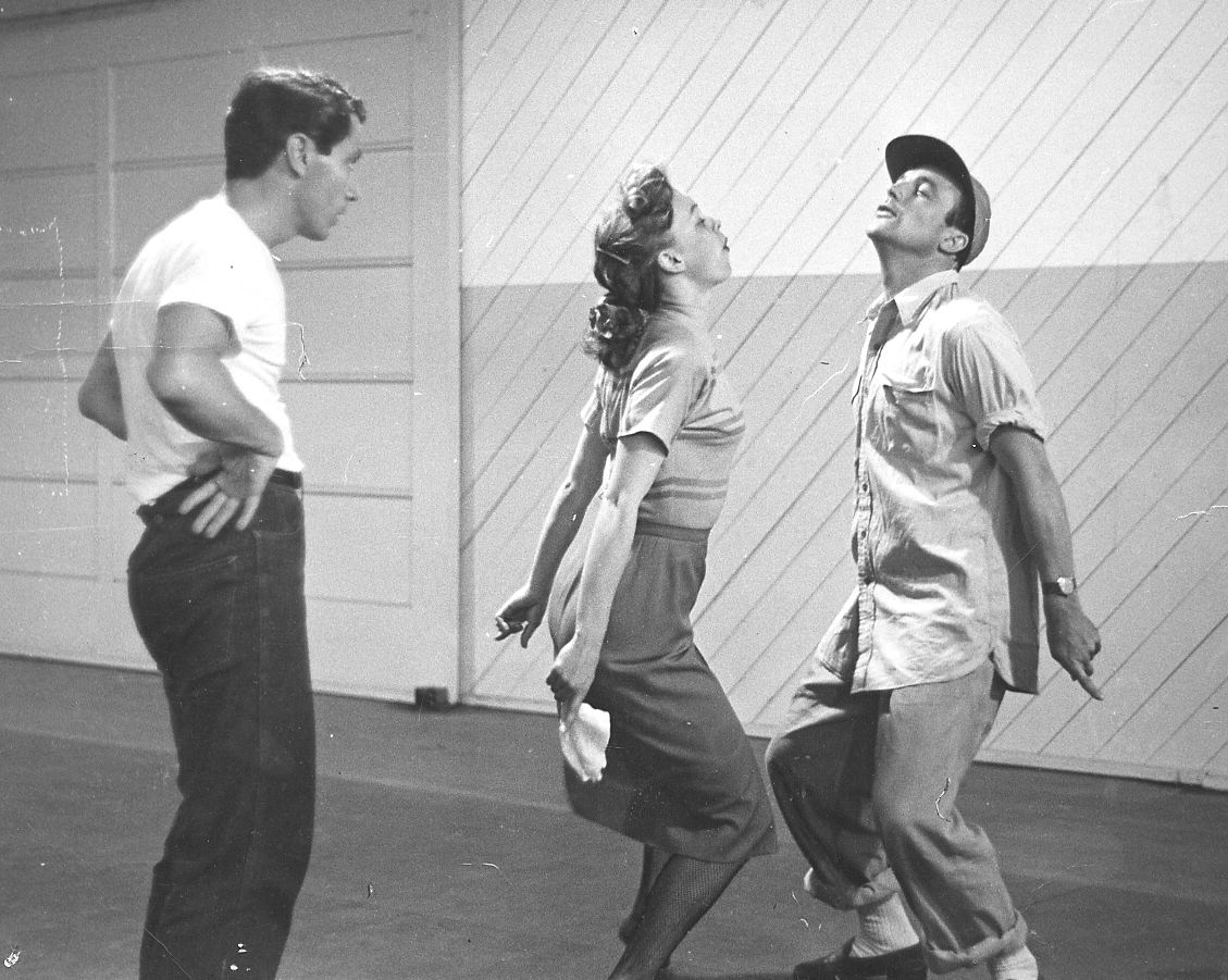 movie choreographer Alex Romero dancing with Gene Kelly
