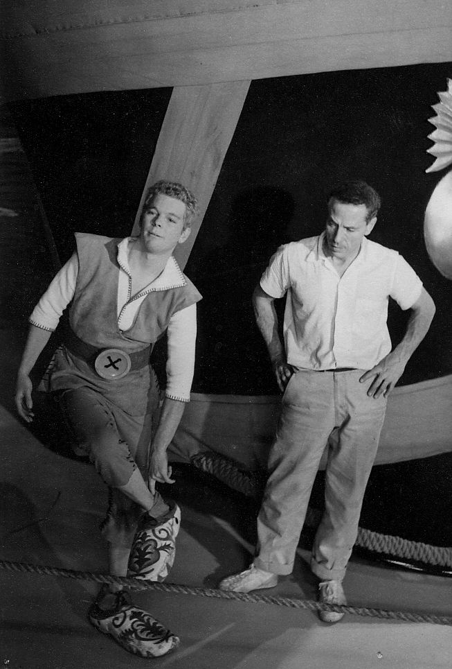 choreographer Alex Romero with Russ Tamblyn