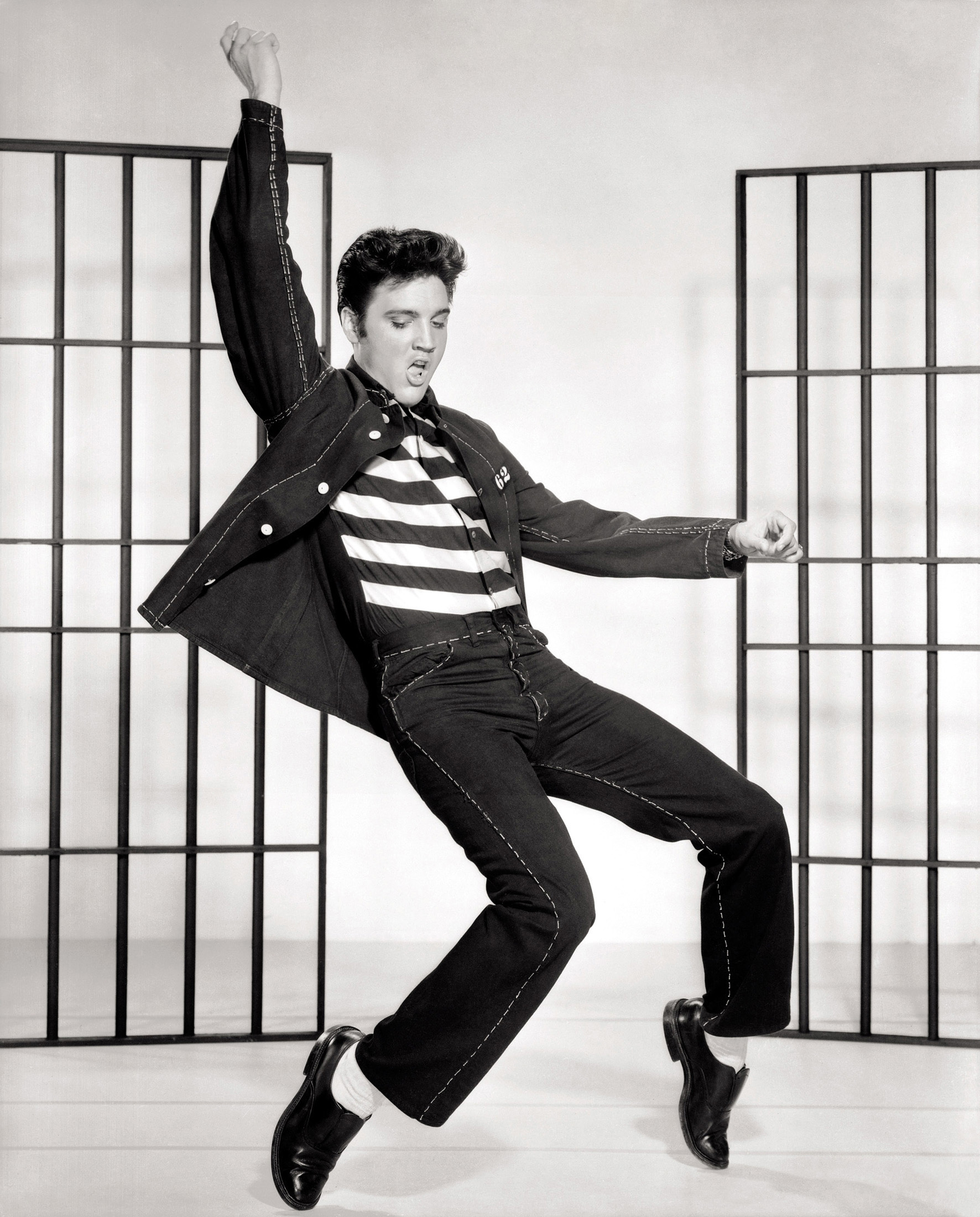 Elvis in Jailhouse Rock with choreography by Alex Romero