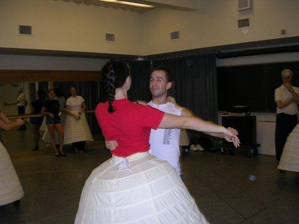Waltzing in Social dance history class